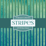 Blue Stripes Digital Paper DP739 - Digital Paper Shop - 2
