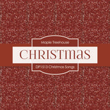 Christmas Songs Digital Paper DP1513 - Digital Paper Shop - 4