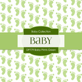 Baby Prints Green Digital Paper DP779 - Digital Paper Shop - 2