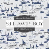 Sail Away Boy Digital Paper DP1170 - Digital Paper Shop - 2