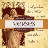 Verses From Psalms Digital Paper DP6633