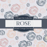 Cottage Chic Rose Digital Paper DP2426 - Digital Paper Shop - 2