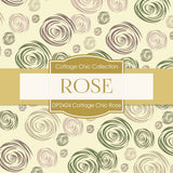 Cottage Chic Rose Digital Paper DP2424 - Digital Paper Shop - 2