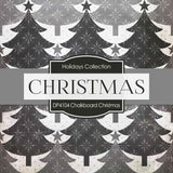 Chalkboard Christmas Digital Paper DP4104 - Digital Paper Shop - 2