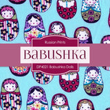 Babushka Dolls Shabby Chic Digital Paper DP4021 - Digital Paper Shop - 2