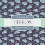 Childish Hippo Digital Paper DP6850