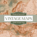 Vintage Maps Digital Paper DP400 - Digital Paper Shop - 2