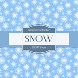 Snow Digital Paper DP597 - Digital Paper Shop - 2