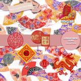 Lunar New Year Digital Paper DP3201 - Digital Paper Shop - 2
