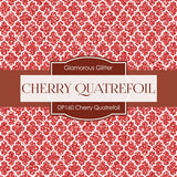Cherry Quatrefoil Digital Paper DP160 - Digital Paper Shop - 2