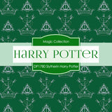 Slytherin Harry Potter Digital Paper DP1780 - Digital Paper Shop - 2