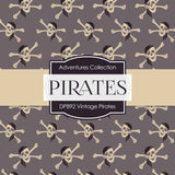 Vintage Pirates Digital Paper DP892 - Digital Paper Shop - 2