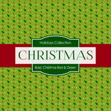 Basic Christmas Red Green Digital Paper DP4027A - Digital Paper Shop - 2