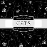 Black Cats Pattern Digital Paper DP4043 - Digital Paper Shop - 2