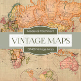 Vintage Maps Digital Paper DP400 - Digital Paper Shop - 3