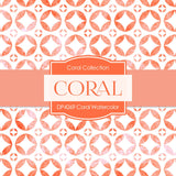 Coral Watercolor Digital Paper DP4269 - Digital Paper Shop - 2