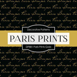 Paris Prints Gold Digital Paper DP881 - Digital Paper Shop - 3