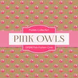 Pink Pattern Owls Digital Paper DP898 - Digital Paper Shop - 2