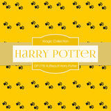 Hufflepuff Harry Potter Digital Paper DP1778 - Digital Paper Shop - 2