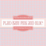 Plaid Baby Pink and Blue Digital Paper DP2105 - Digital Paper Shop - 2