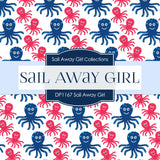 Sail Away Girl Digital Paper DP1167 - Digital Paper Shop - 3