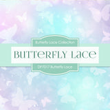Butterfly Lace Digital Paper DP7017