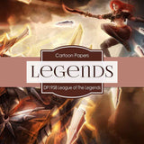 League of Legends Digital Paper DP1958 - Digital Paper Shop - 3