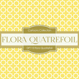 Flora Quatrefoil Digital Paper DP113 - Digital Paper Shop - 3