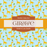 Cute Giraffe Digital Paper DP6814