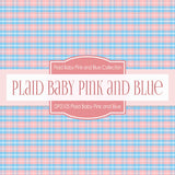 Plaid Baby Pink and Blue Digital Paper DP2105 - Digital Paper Shop - 3