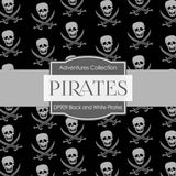Black and White Pirates Digital Paper DP909 - Digital Paper Shop - 2