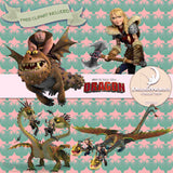 How To Train Your Dragon Digital Paper DP3069 - Digital Paper Shop - 4