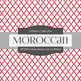 Large Moroccan Outlined Digital Paper DP6294A
