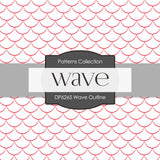 Wave Outline Digital Paper DP6265A