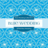 Blue Wedding Digital Paper DP966 - Digital Paper Shop - 2