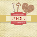 April Weekends Digital Paper DP6052 - Digital Paper Shop - 2