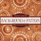 Chocolate Patterns Digital Paper DP895 - Digital Paper Shop - 2