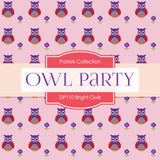 Bright Owls Party Digital Paper DP110 - Digital Paper Shop - 2