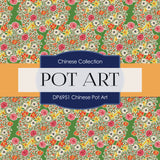 Chinese Pot Art Digital Paper DP6951