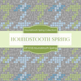 Houndstooth Spring Digital Paper DP1018 - Digital Paper Shop - 2
