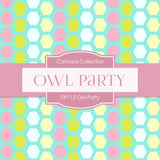 Owl Party Digital Paper DP115 - Digital Paper Shop - 2