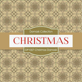 Christmas Damask Digital Paper DP1007 - Digital Paper Shop - 3