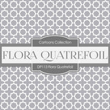 Flora Quatrefoil Digital Paper DP113 - Digital Paper Shop - 4