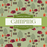 Camping With Dad Digital Paper DP799 - Digital Paper Shop - 3