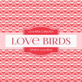 Love Birds Digital Paper DP4076A - Digital Paper Shop - 2