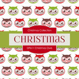 Christmas Owls Digital Paper DP611A - Digital Paper Shop - 2