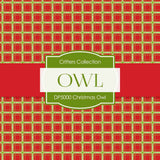 Christmas Owl Digital Paper DP5000 - Digital Paper Shop - 2