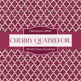Cherry Quatrefoil Digital Paper DP160 - Digital Paper Shop - 3