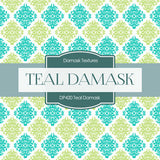 Teal Damask Digital Paper DP420 - Digital Paper Shop - 3