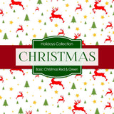 Basic Christmas Red Green Digital Paper DP4027A - Digital Paper Shop - 3